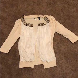 From the Buckle. Cream Cardigan. Size small